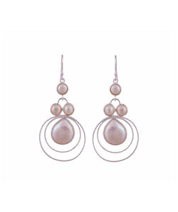 Uptownie Bezzel-Silver Earrings Pearls