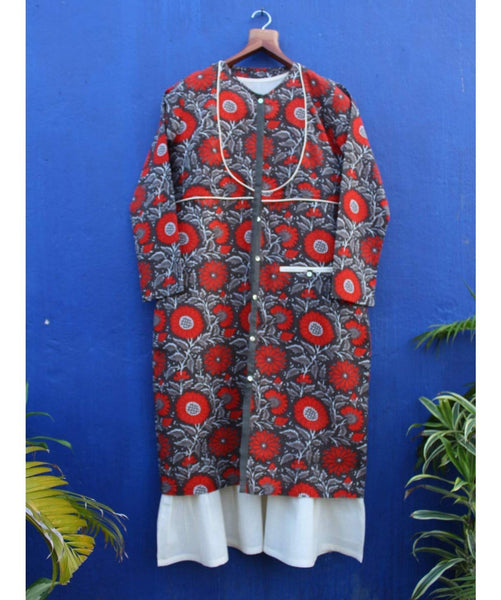Printed Double Layered Kalamkari Tunic