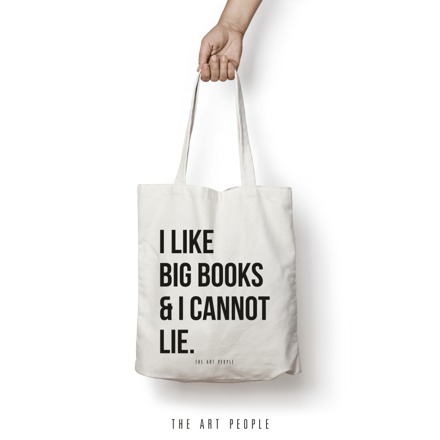 I Like Big Books Tote Bag. Uptownie