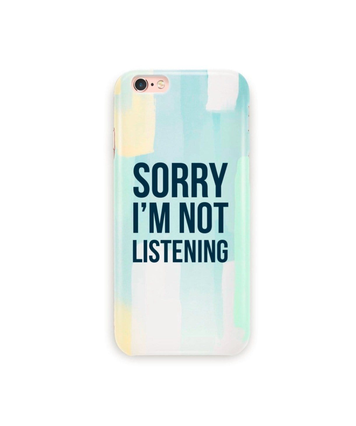 I'm Not Listening IPhone Cover (Personalisation Available) - Uptownie