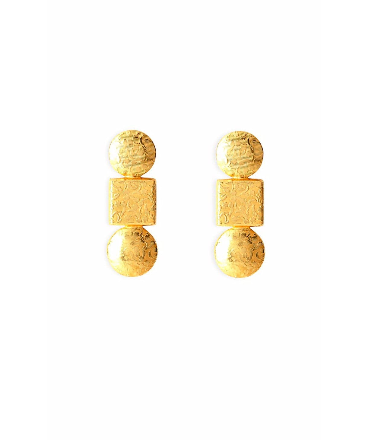 Impression Gold Earrings - Uptownie