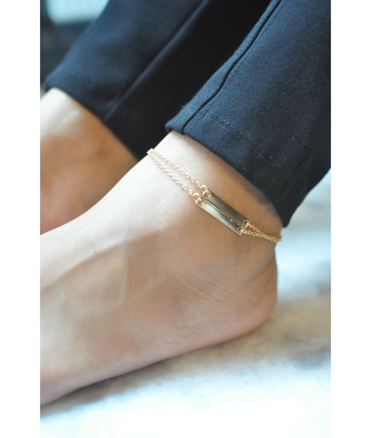 Linked Bar Anklet