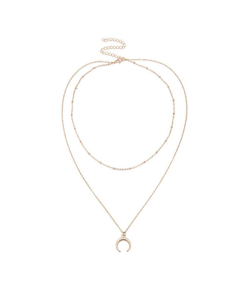 Gold Minimalistic Necklace - Uptownie