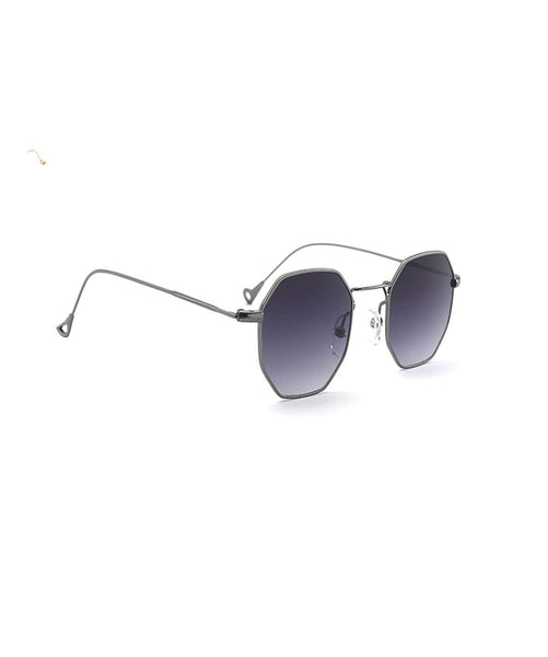 Octagon Black Sunglasses - Uptownie