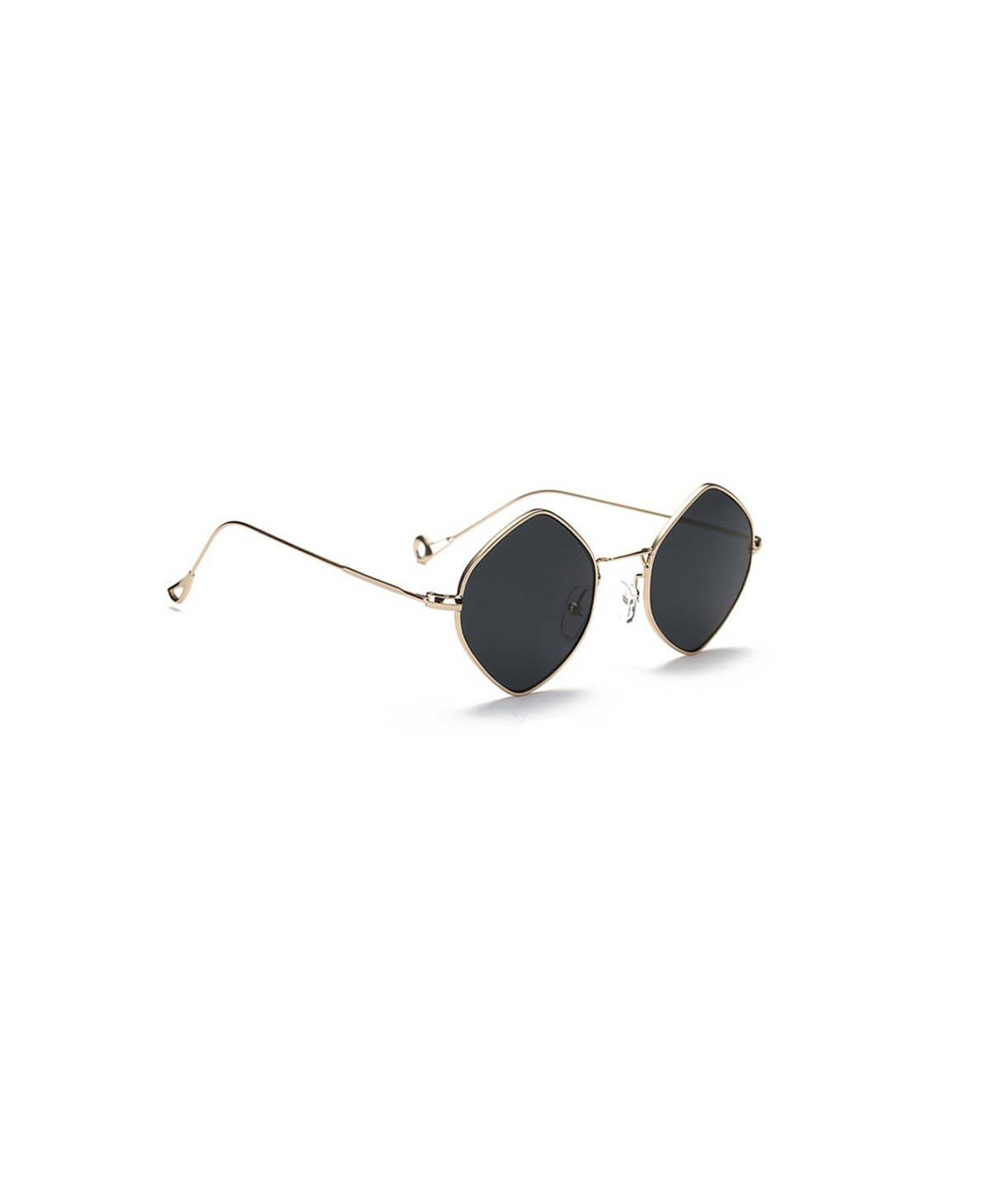 Black Hexagon Sunglasses - Uptownie