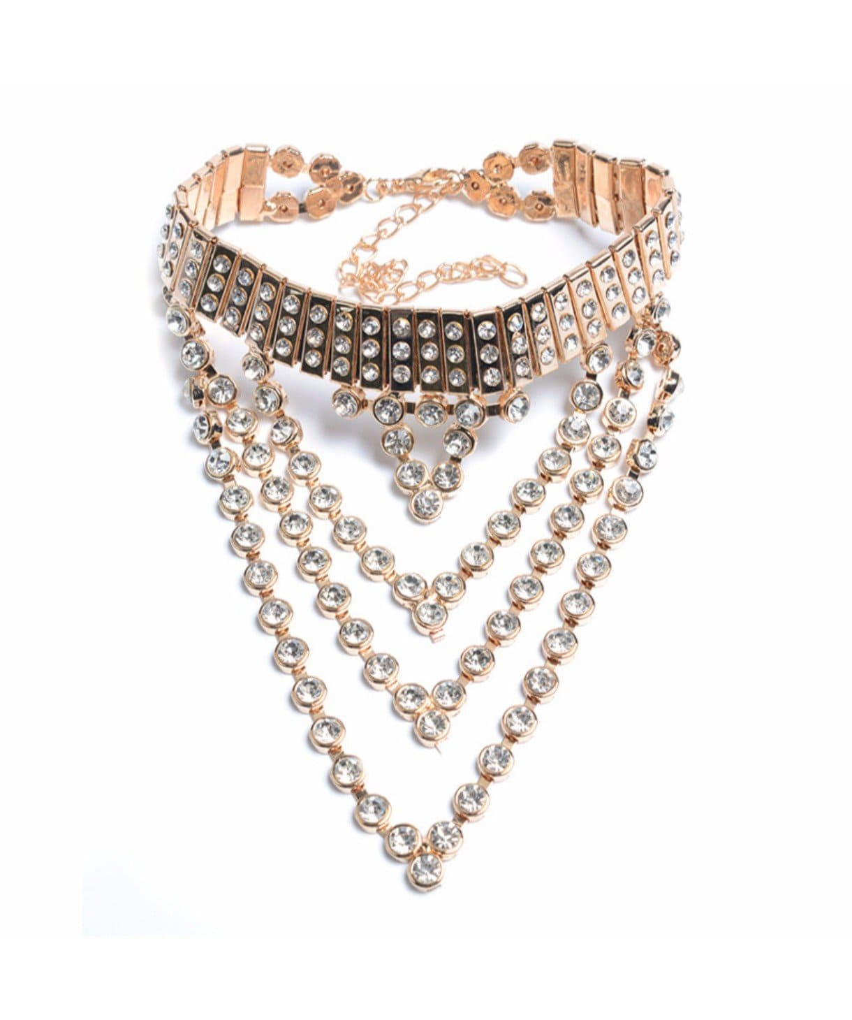 Jewelled Wide Choker - Uptownie