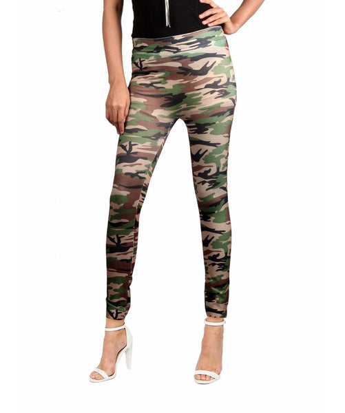 Military Print Camouflage Leggings