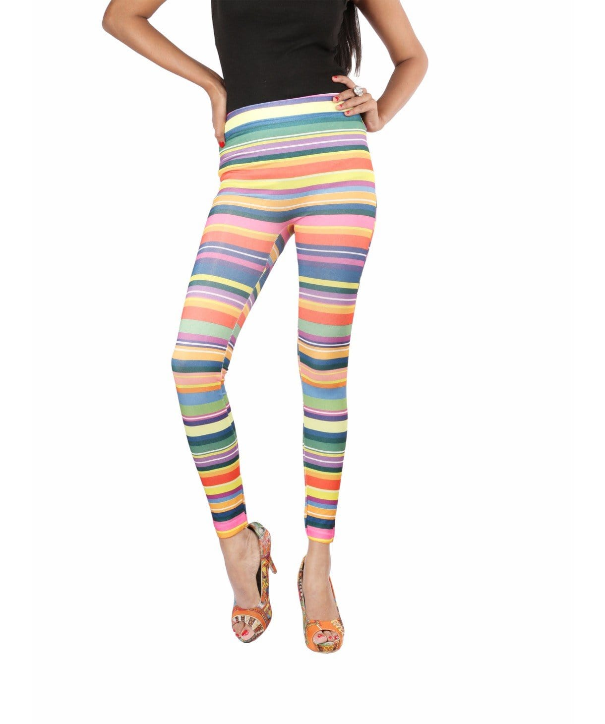 Rainbow Stripe Legging Tights