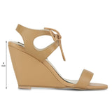 Tan With Lace Wedge - Uptownie