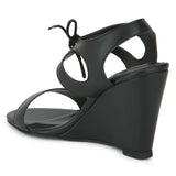 Uptownie X Bootico-Black Tassle Wedges - Uptownie