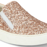 Uptownie X Bootico-Rose Gold Curve Glitter Sneakers - Uptownie