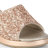Uptownie X Bootico-Rose Gold Glitter Wedges - Uptownie
