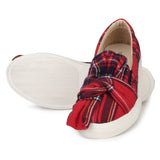 Uptownie X Bootico-Scottish Print Bow Red - Uptownie