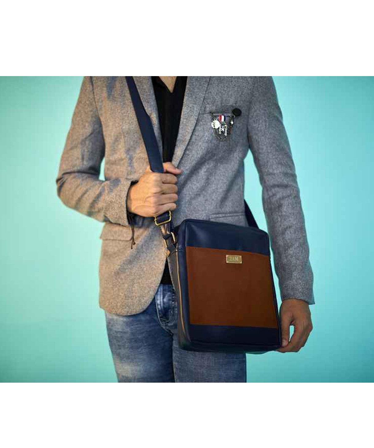 Uptownie X 2AM-The Dapper Satchel Blue - Uptownie