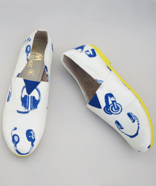 Uptownie X Marlschuz-Headphone Print Canvas Shoes - Uptownie