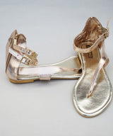 Marlschuz-Rose Gold Flat Sandals