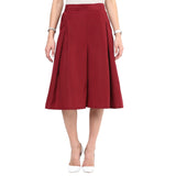 Uptownie Maroon Box Pleat Culottes 1 clearance sale