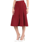 Uptownie Maroon Box Pleat Culottes 2 summer sale