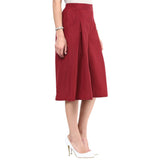 Uptownie Maroon Box Pleat Culottes 3 summer sale