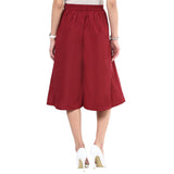 Uptownie Maroon Box Pleat Culottes 4 summer sale