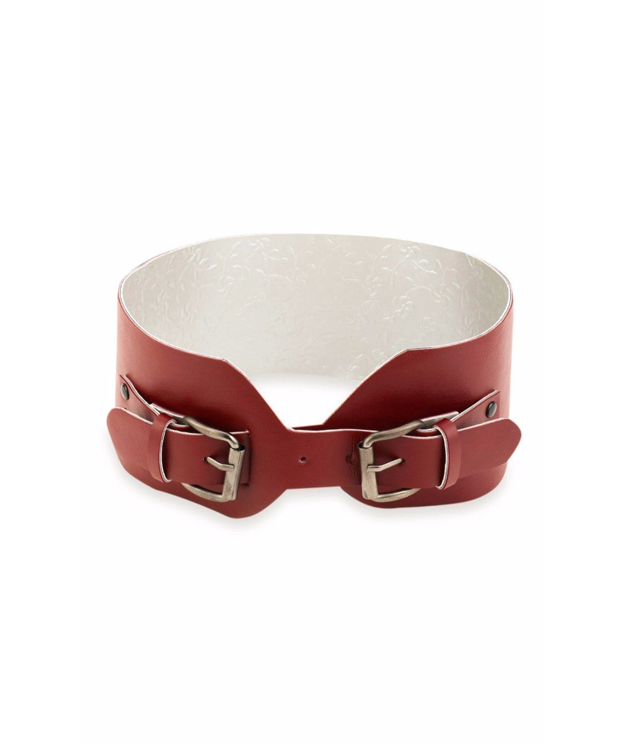 Maroon Criss Cross Belt - Uptownie