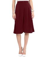 Uptownie Maroon Knee Adjustable Culottes 3 summer sale