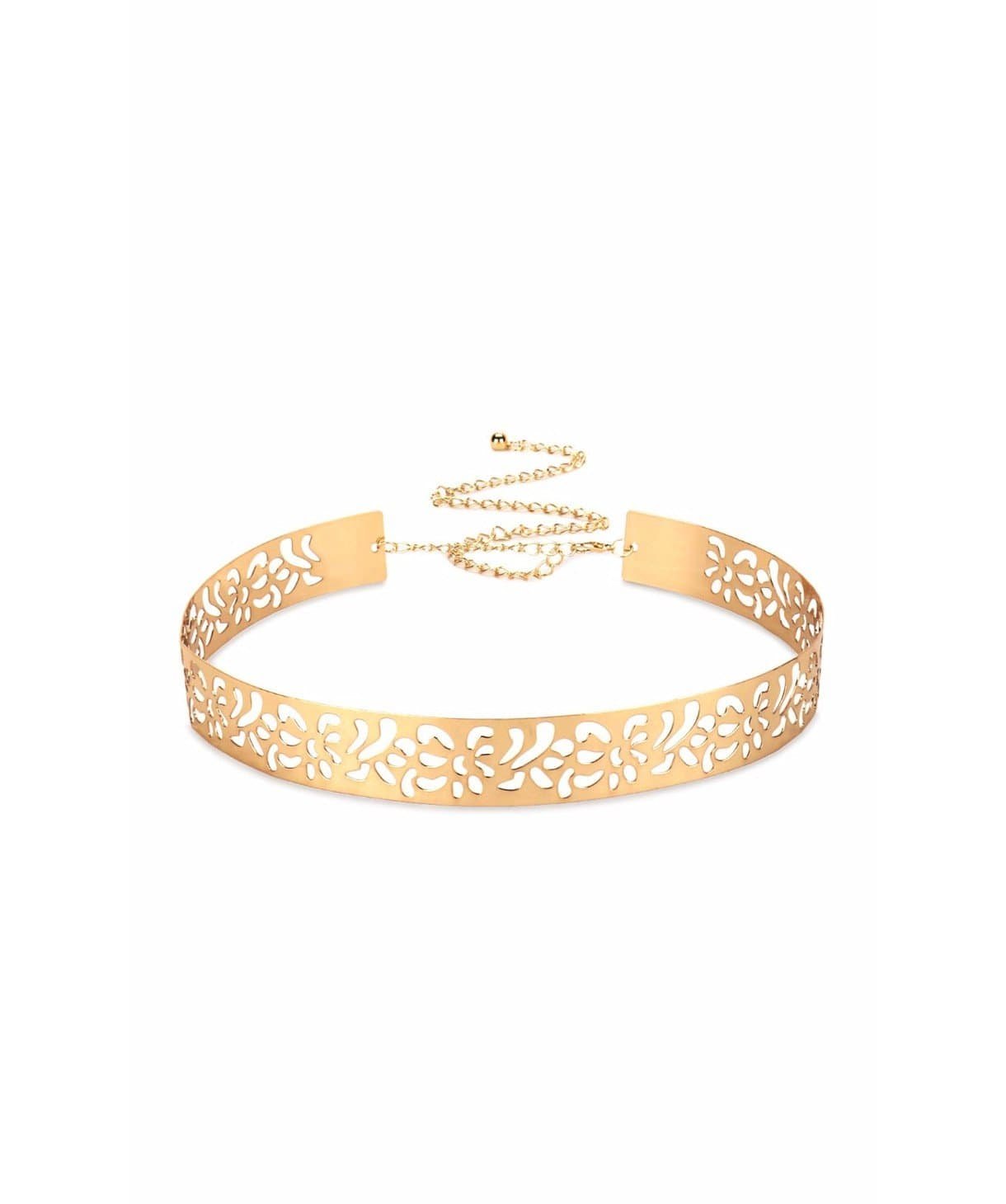 Metallic Cutwork Belt- Gold - Uptownie