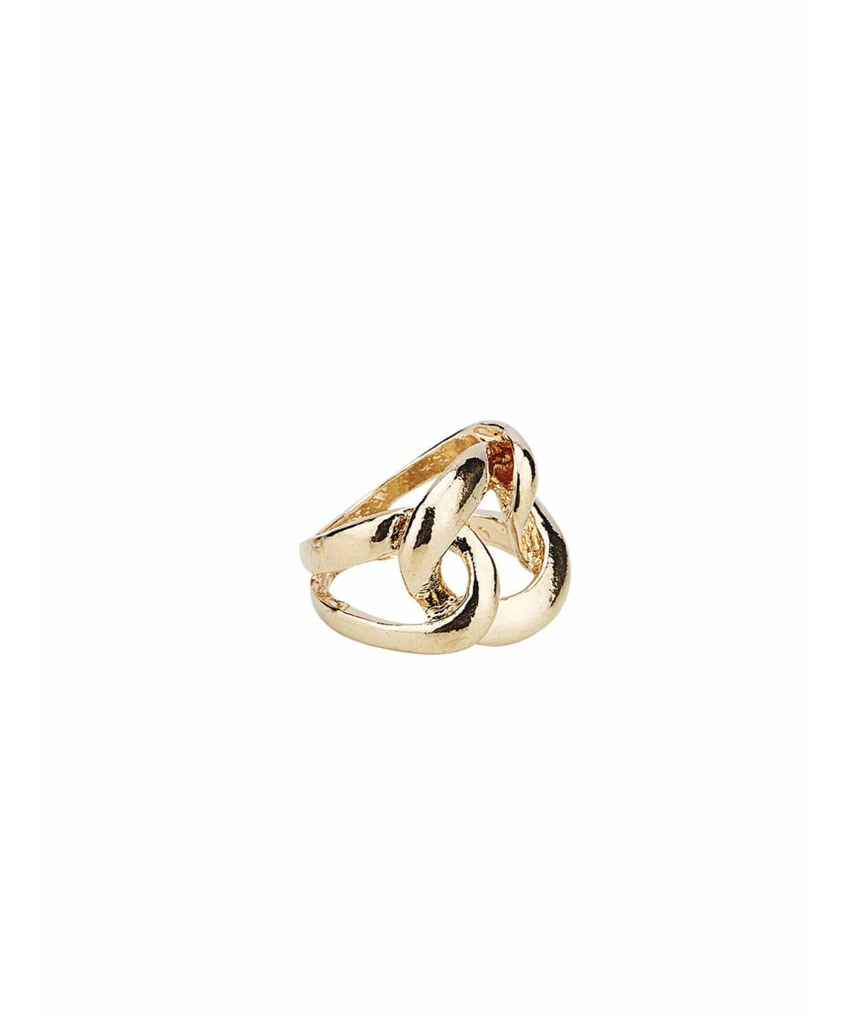 Metallic Overlap Ring - Uptownie