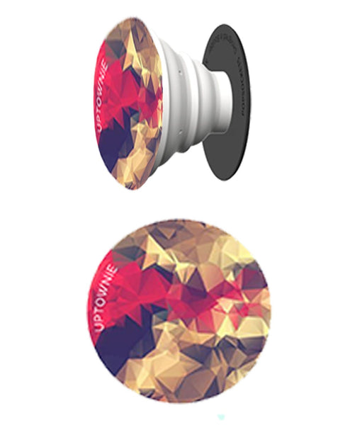 Multicolor Abstract Print Pop Socket - Uptownie