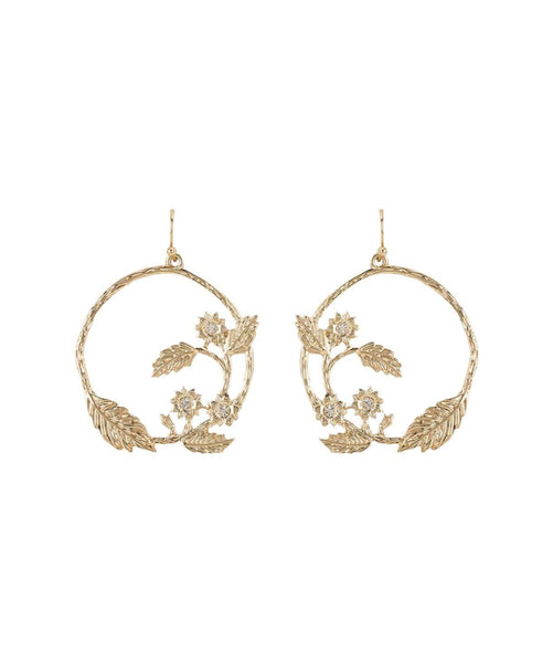Nature Gold Earrings - Uptownie