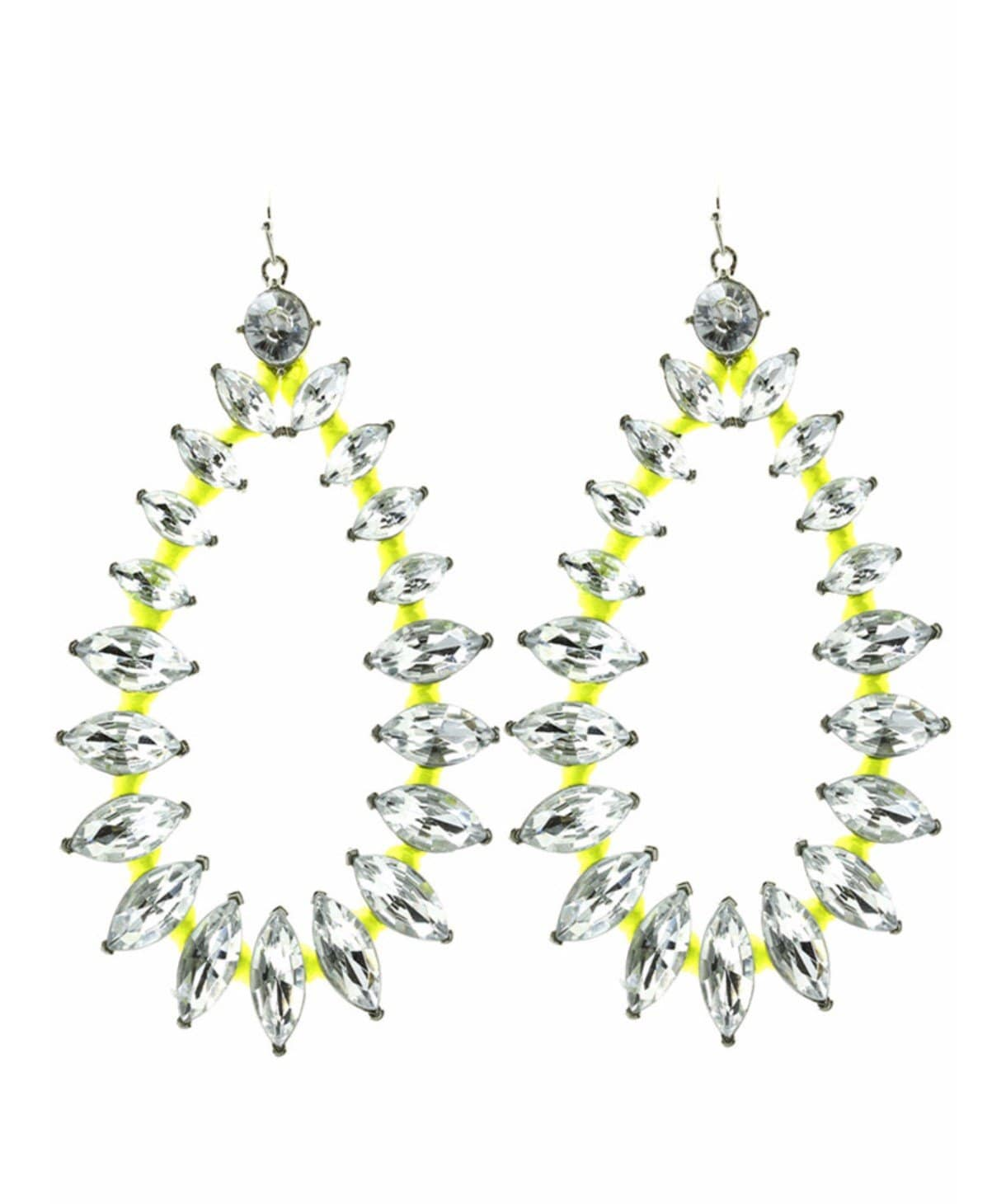 Neon Yellow Hue Earrings - Uptownie