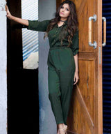 Olive Green Roll Up Jumpsuit. BUY 1 GET 3