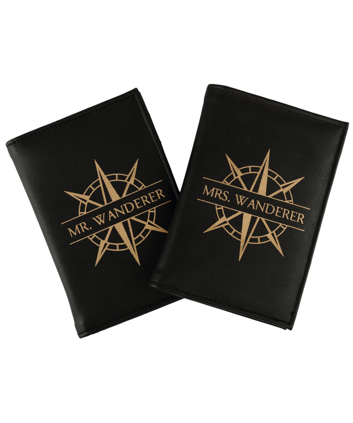 Uptownie X 2AM-Mr & Mrs. Wanderer Set Black Passport Holders - Uptownie