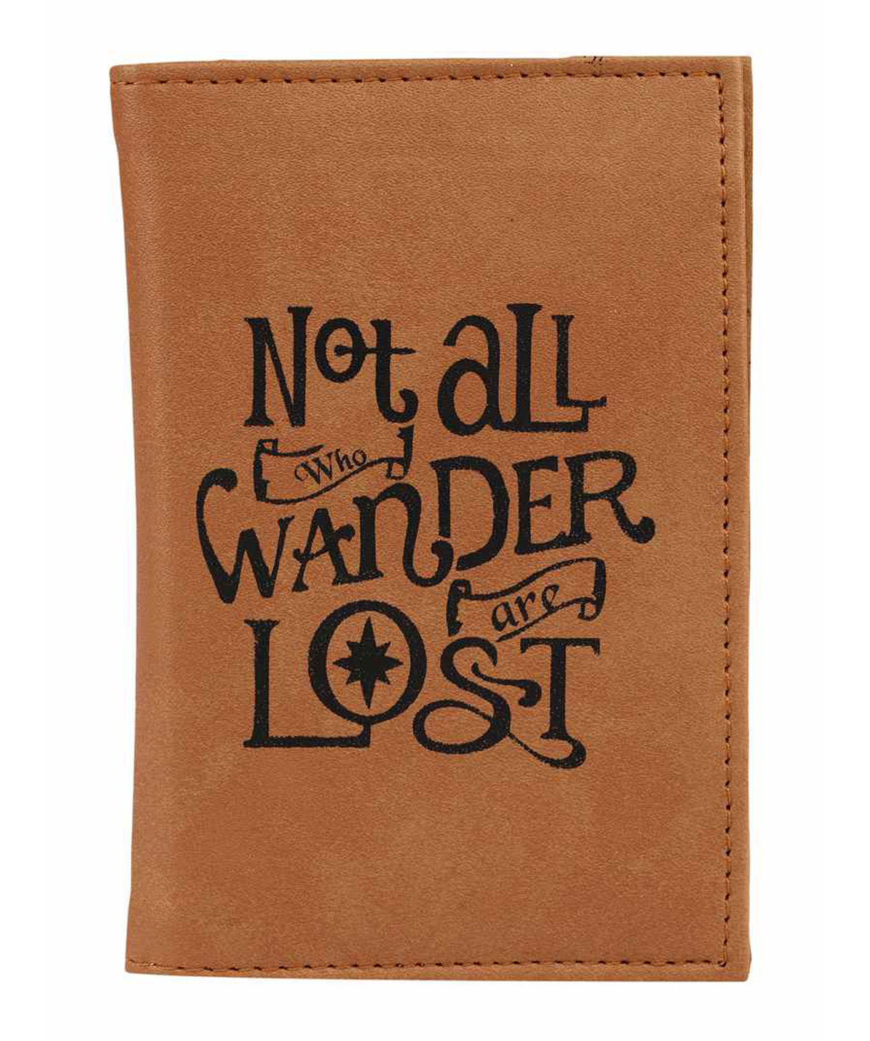 Uptownie X 2AM-Not All Who Wander Are Lost Brown Passport Holder - Uptownie