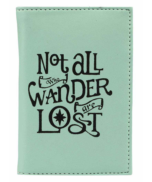 Uptownie X 2AM-Mint Not All Who Wander Are Lost Passport Holder