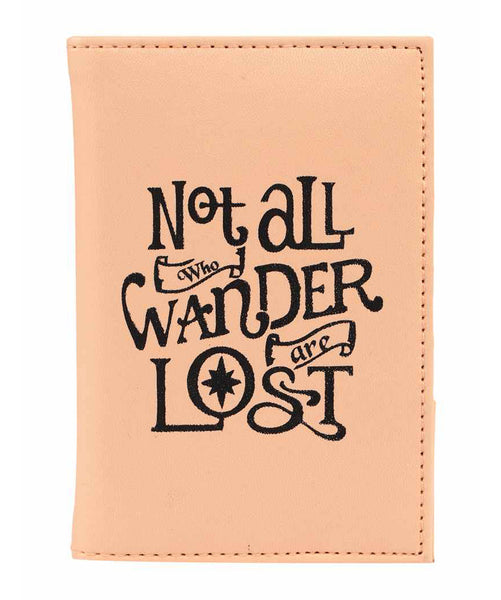 Uptownie X 2AM-Peach Not All Who Wander Are Lost Passport Holder