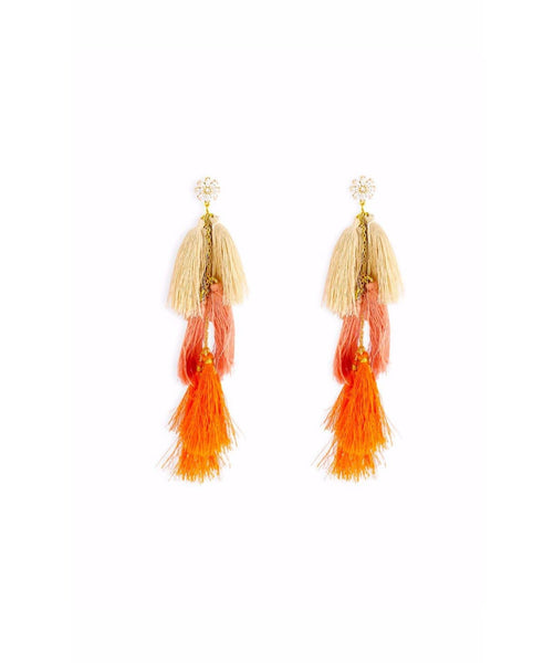 Peach Tassel Earrings - Uptownie