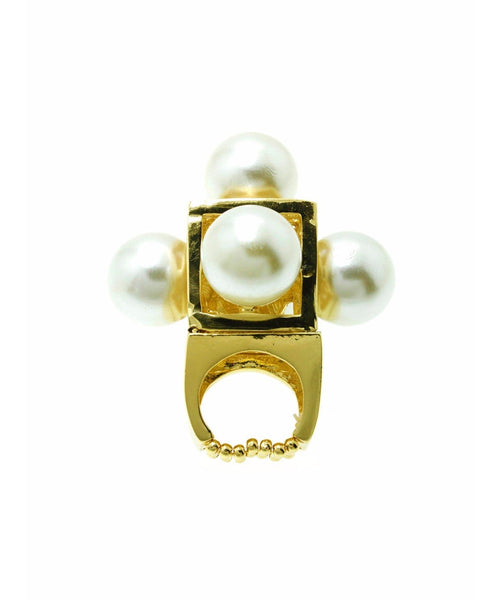 Pearl Dome Ring - Uptownie