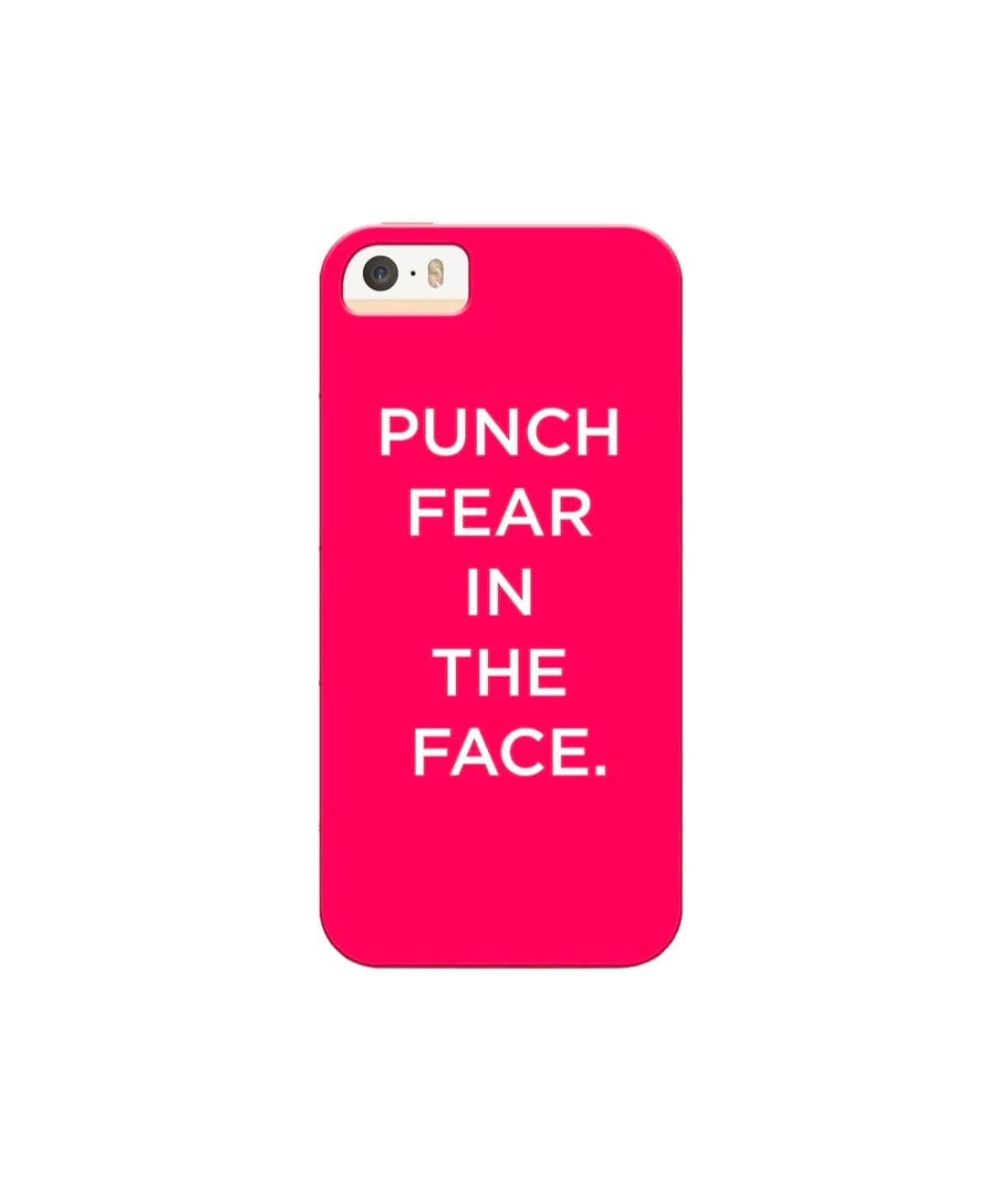 Punch Fear In The Face IPhone Cover (Personalisation Available) - Uptownie