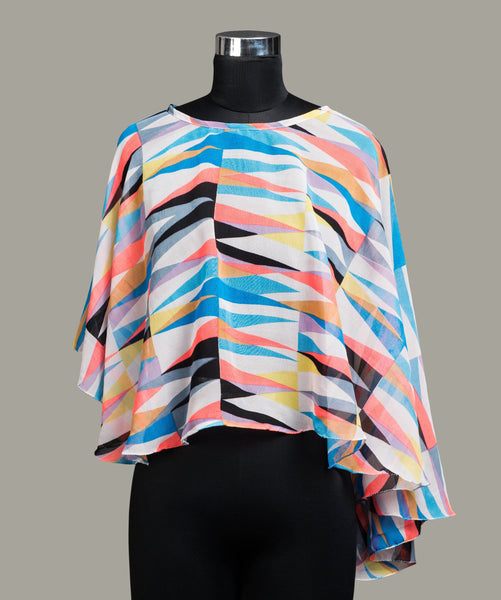 Geometrical Stripes Cape