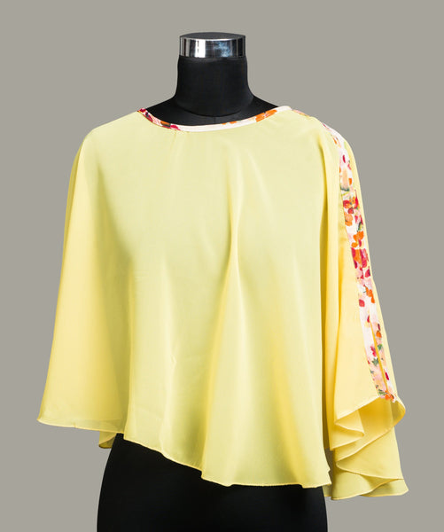Solid Yellow Cape Top