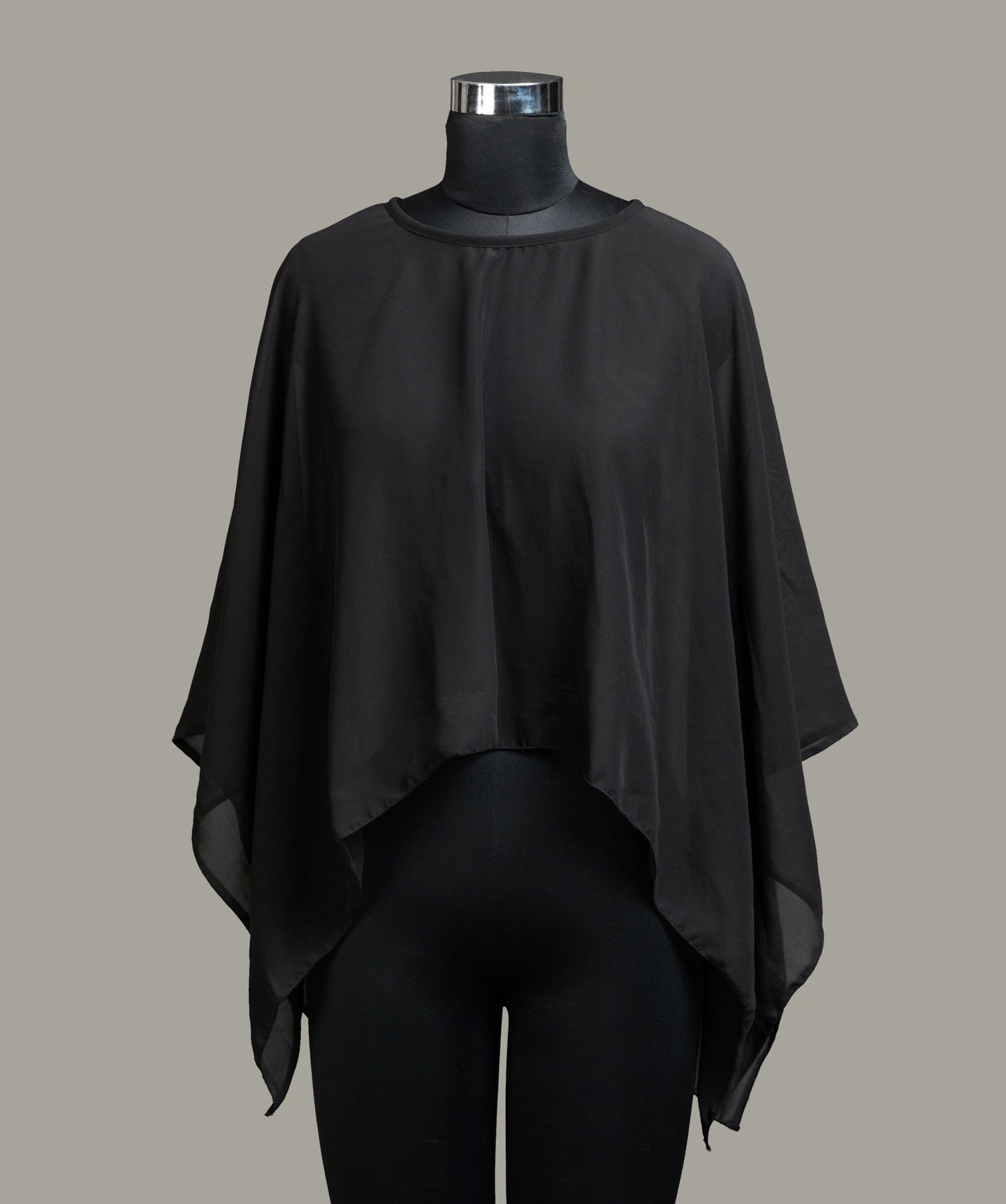 Solid Black Cape Top