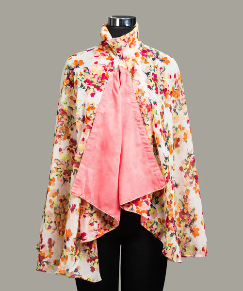 Floral Printed Cape