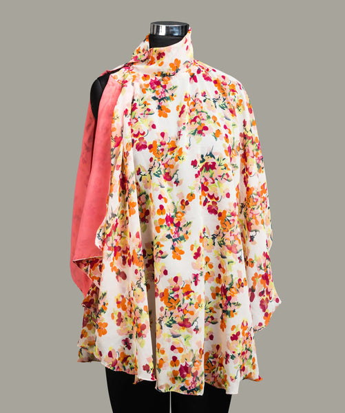 The Watch the Florals Flow Cape