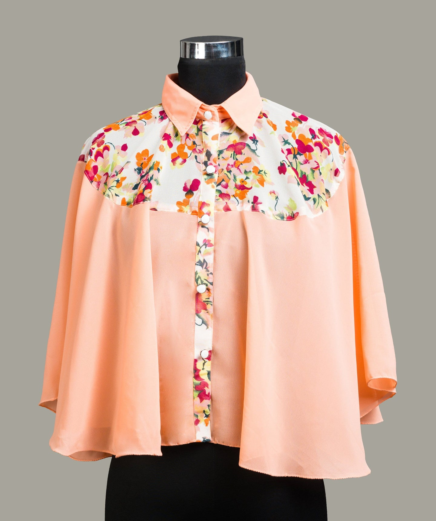 Floral Printed Cape/Shirt