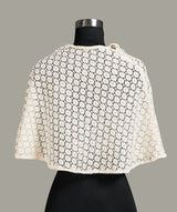 Solid White Lace Cape