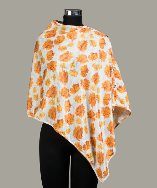 Floral Printed Cape Top