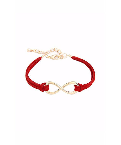 Red Infinity Bracelet - Uptownie