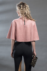 Solid Suede/Pink Cape Top