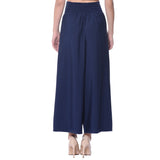 Uptownie Plus Navy Blue Solid Palazzo 3 summer sale